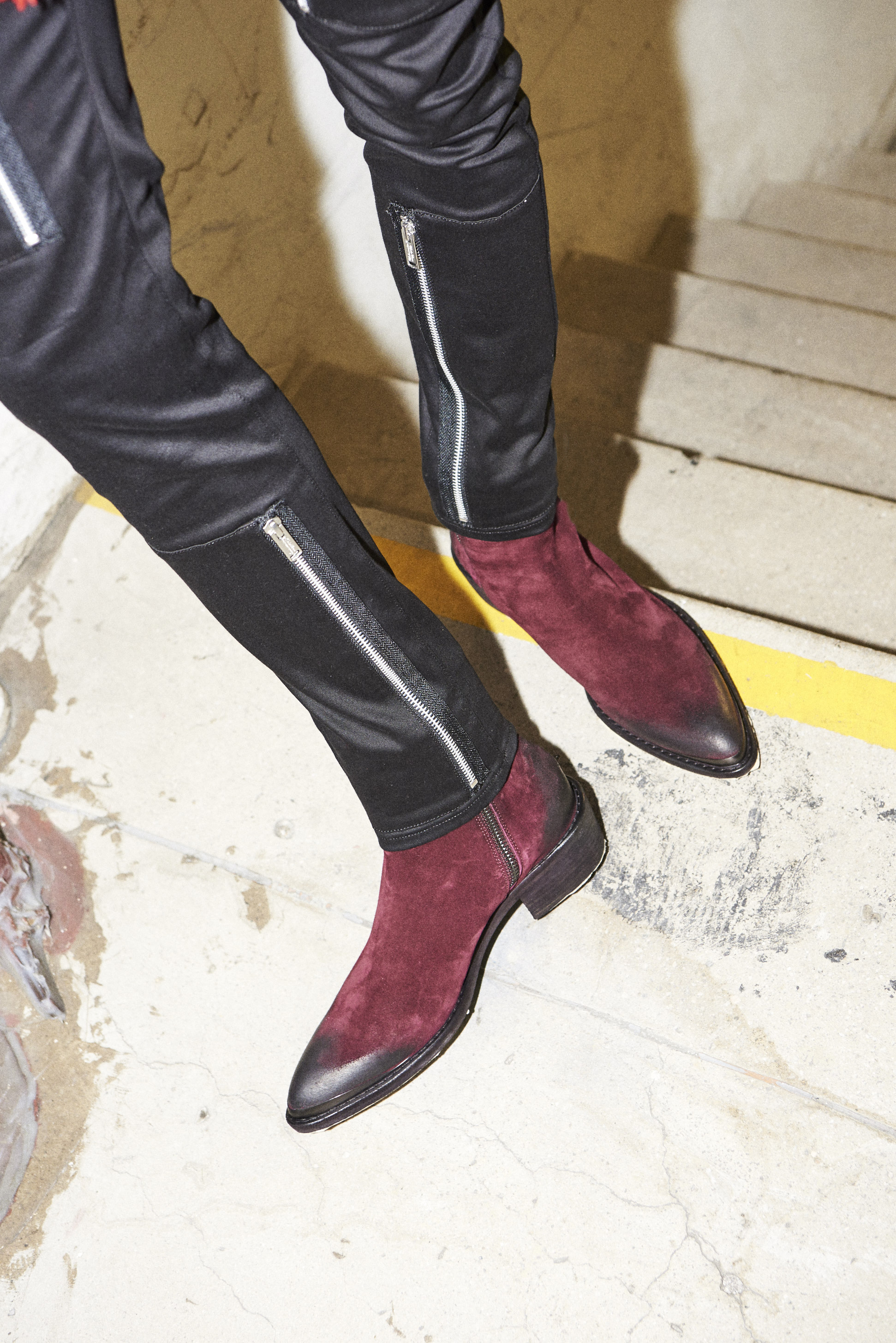 haider ackerman suede boots- undercover trousers fw17 men's clothing h lorenzo