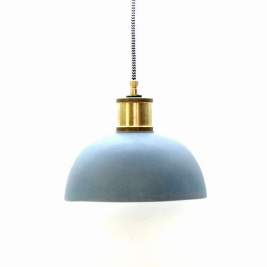 Индустриальный светильник Голубая глазурь