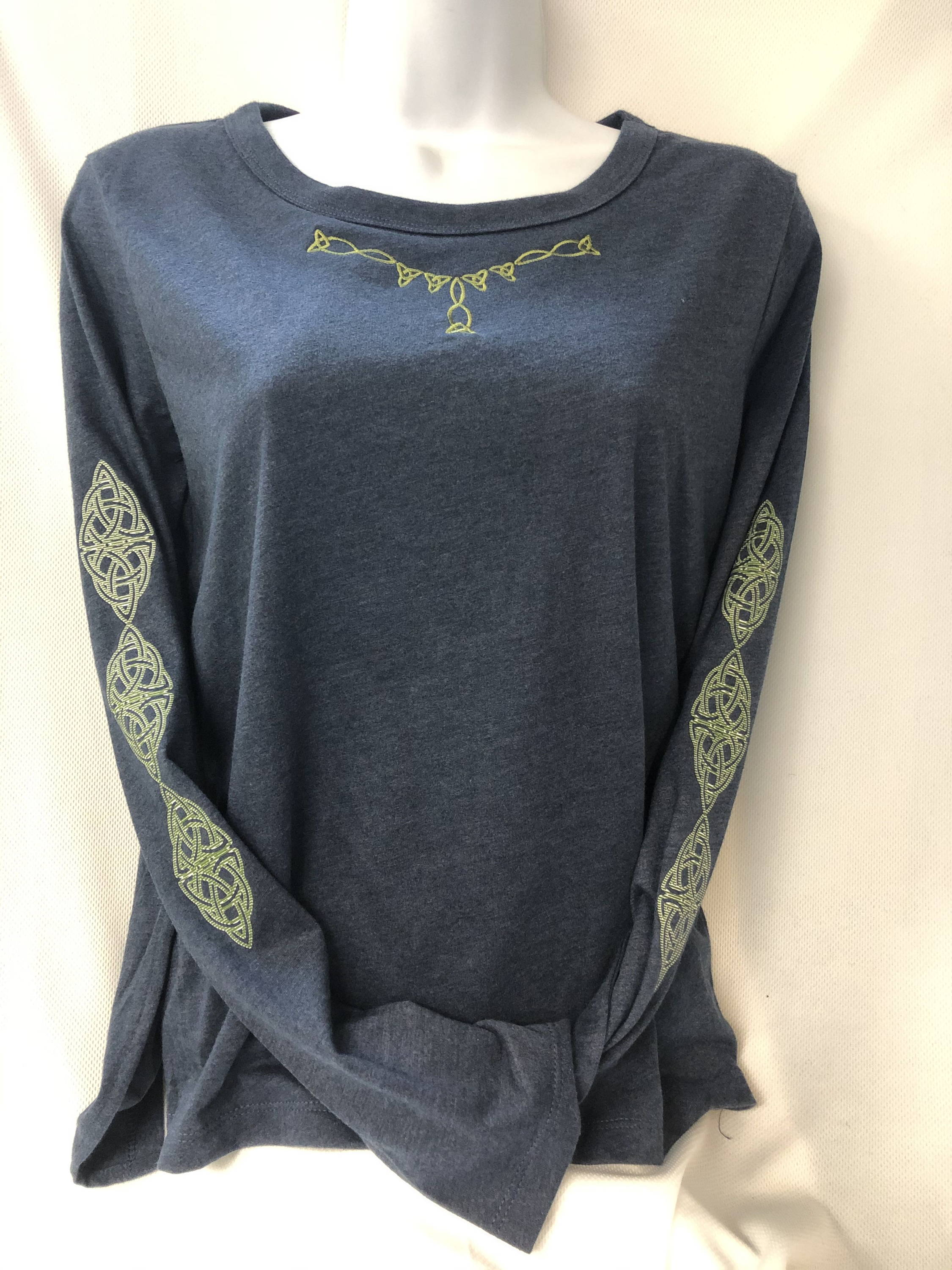 Shamrock Chic High/Low Long Sleeve Tee Celtic Festival Online