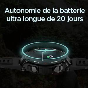 Amazfit T-Rex - Autonomie de Batterie Ultra Longue de 20 jours