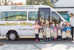 bastel könig bus und kinder