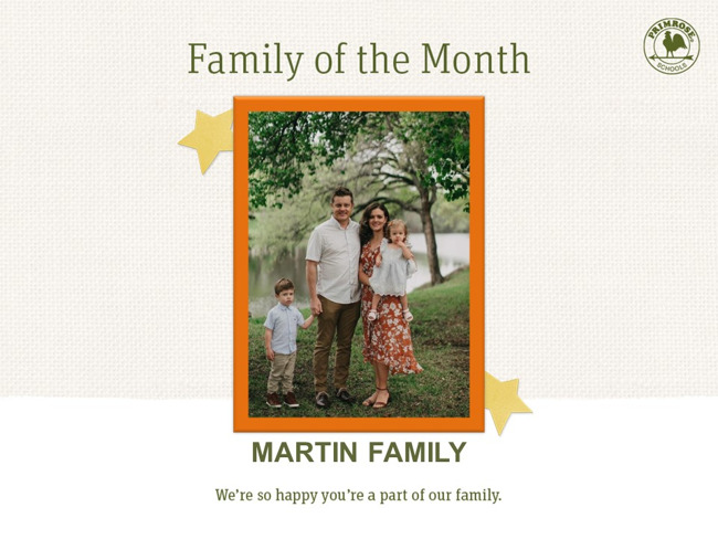 Martin Family of the Month