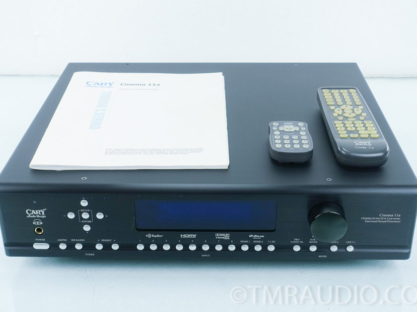Cary Audio  Cinema 11A  7.1 DTS-HD Dolby TrueHD  Surround Processor
