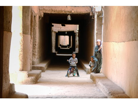 Mother and Children in Morocco