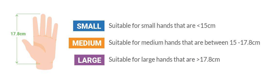 Measure hand size for ergonomic mouse