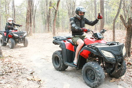 ATV Quad Bike driving in the Jungle (PASSENGER)