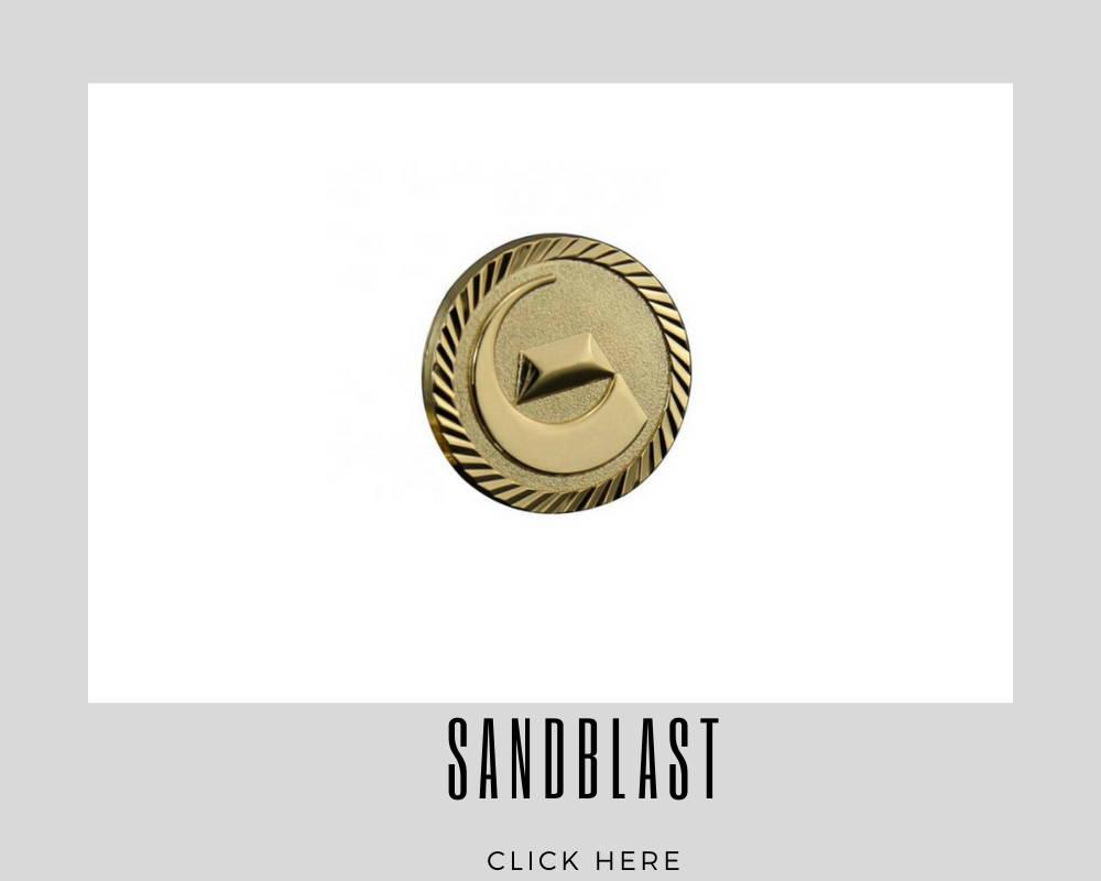 corporate sandblast custom lapel pins