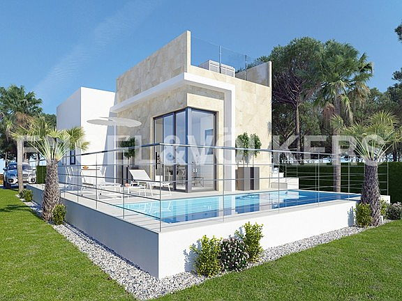 Benidorm, Costa Blanca - new-construction-chalets-next-to-the-golf-course.jpg