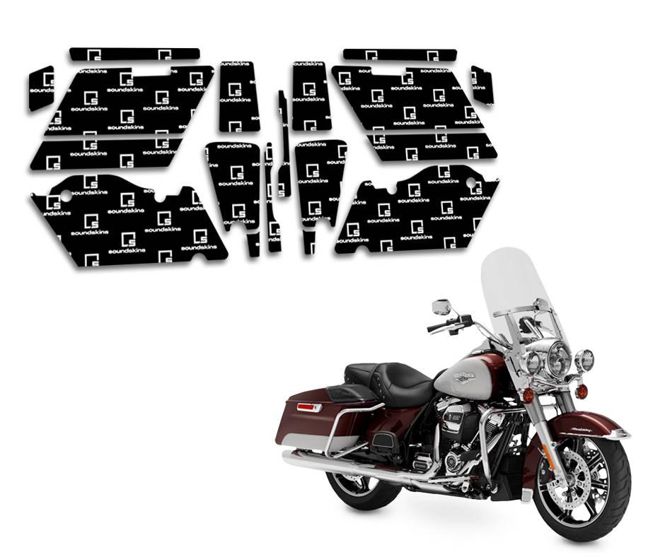 harley davidson road king soundskins saddlebag sound deadening kit by american hard bag