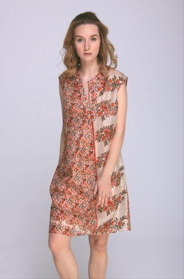 Лёгкое летнее платье из натурального индийского шелка