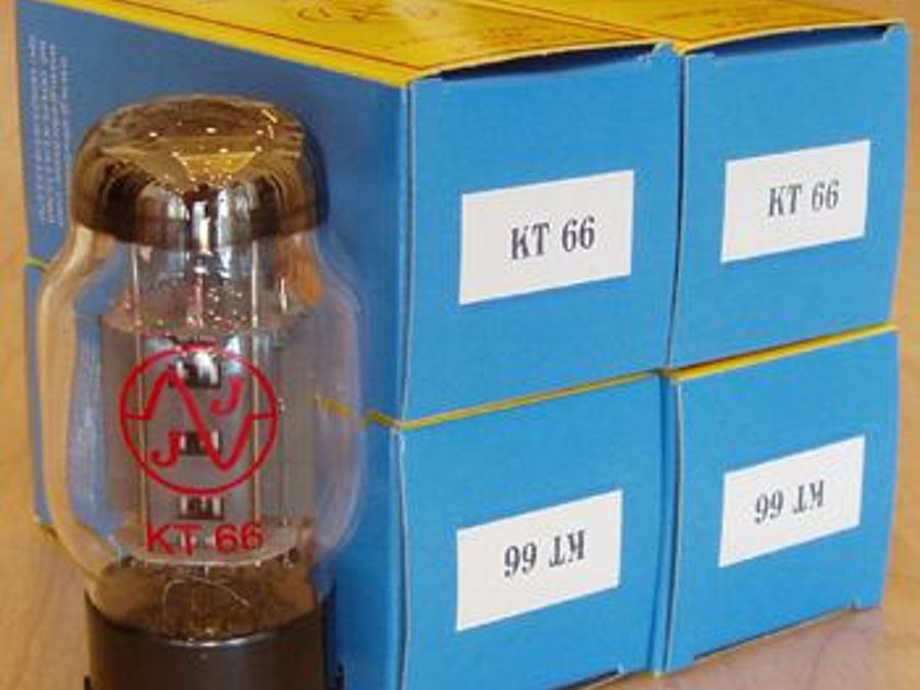 JJ Electronics Tubes, KT66 matched quad, brand new