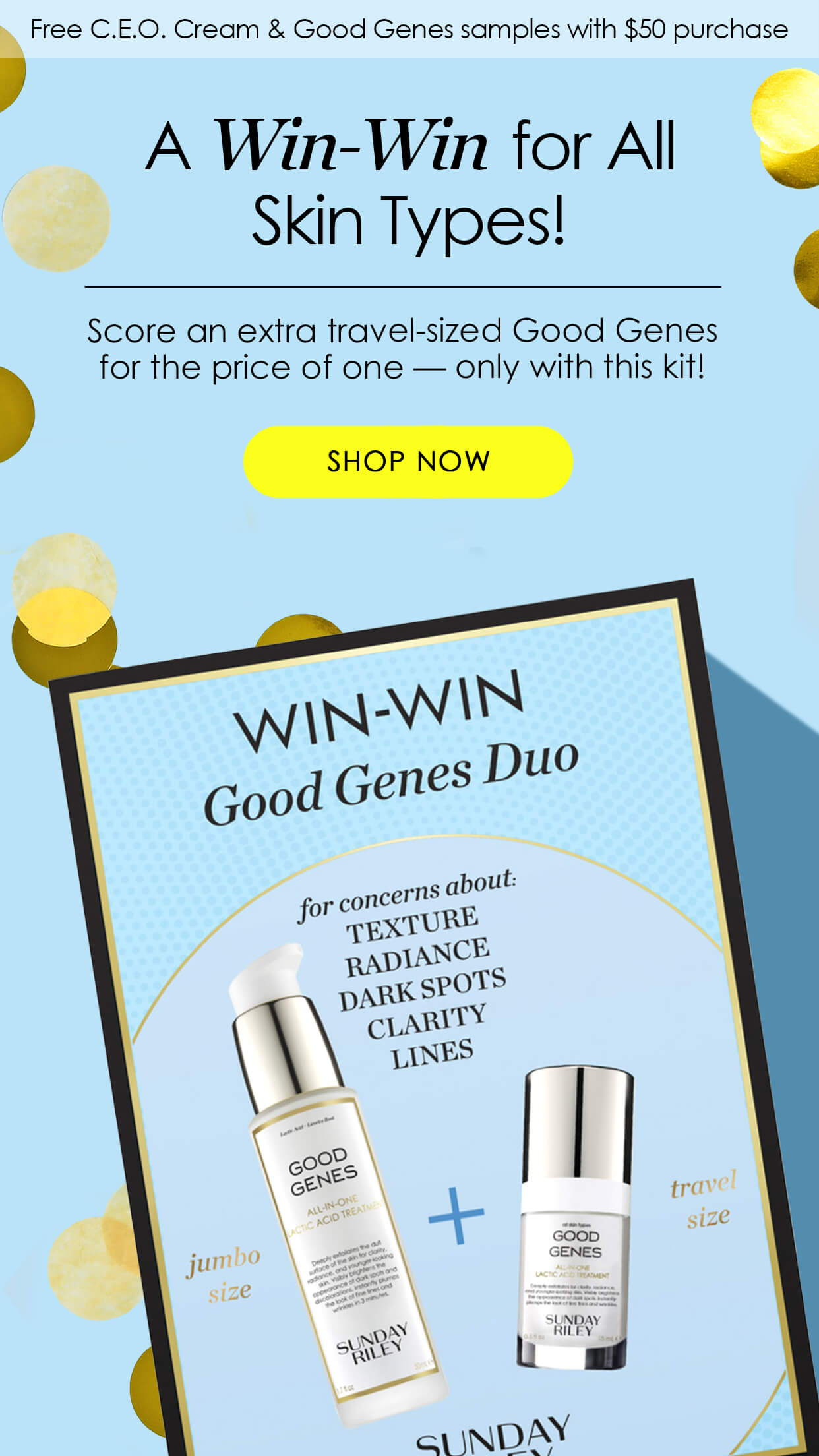 Score an extra travel-sized Good Genes for the price of one — only with this kit!