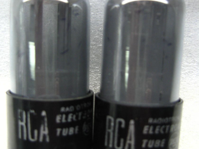 Rca 6sn7gt smoke glass platinum matched PAIR