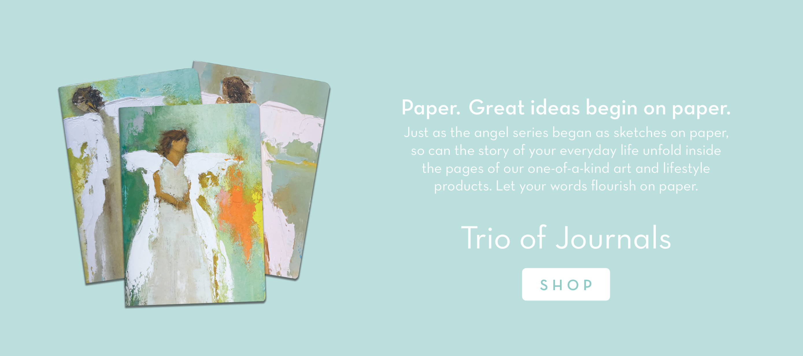 Three colorful angel journals