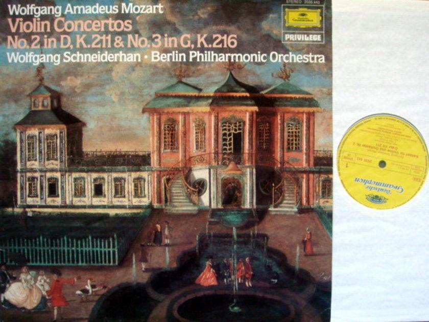 DG / SCHNEIDERHAN-BPO, - Mozart Violin Concerto No.2 & 3, NM!