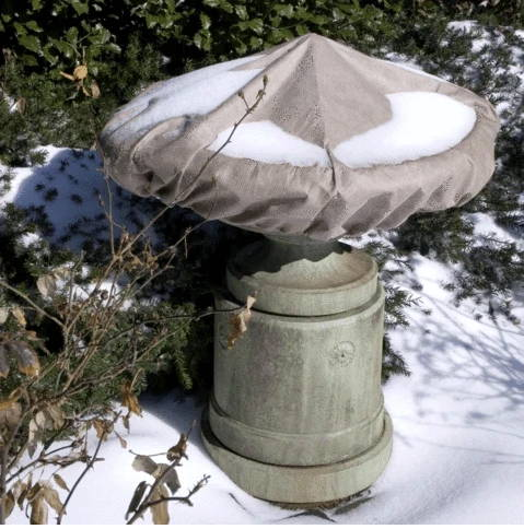 Winter Care for Cast Stone Fountains and Birdbaths, winterizing your fountain, winterizing your water feature, winterizing your birdbath