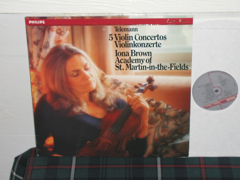 Aostmitf/Iona Brown - Telemann 5 Violin Ct Philips Import pressing 411