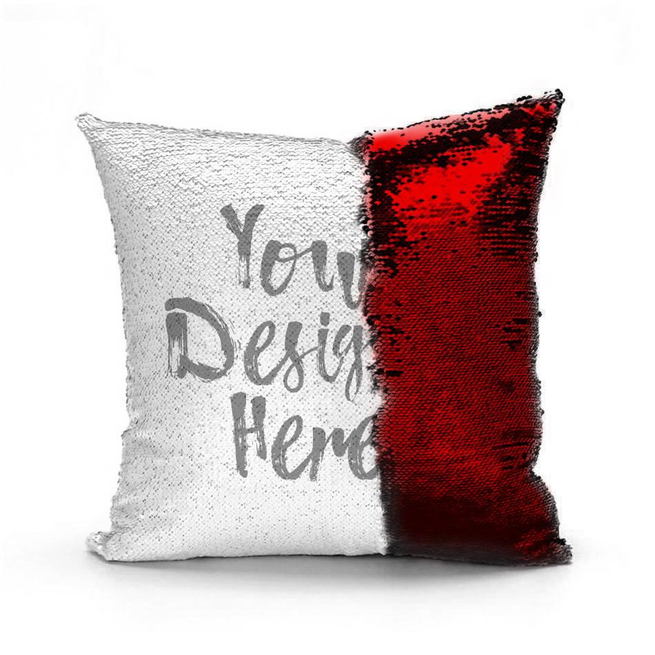 Red Custom Mermaid Pillow