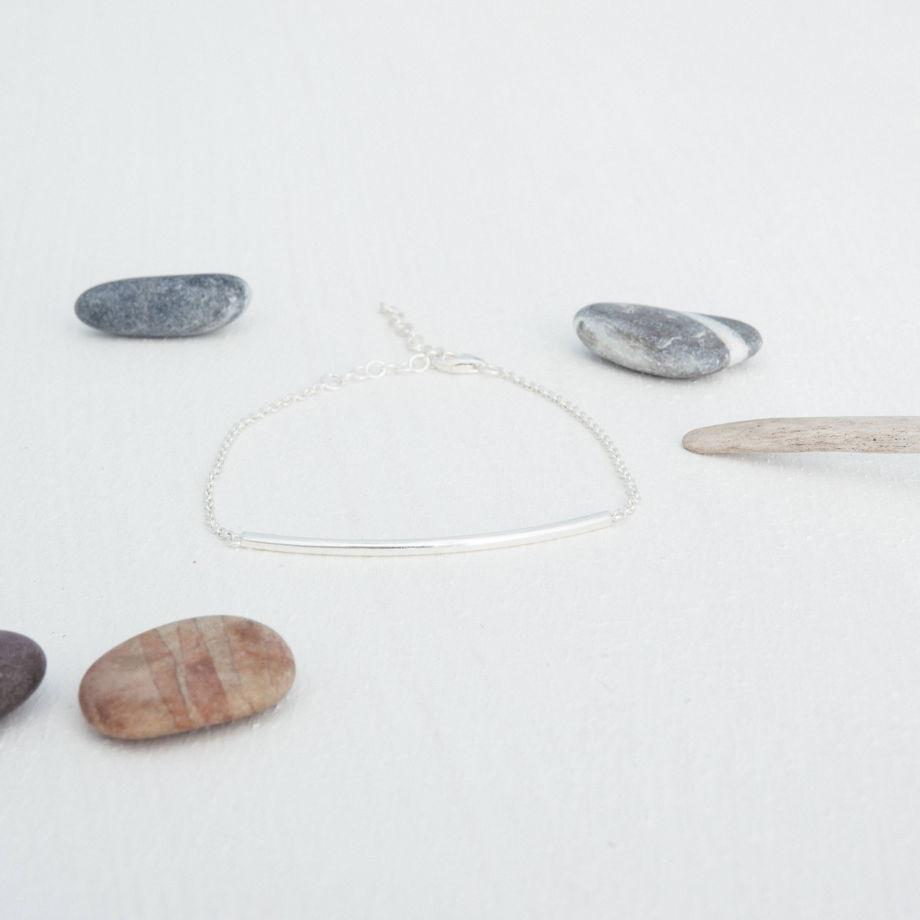 Браслет цепочка из серебра «Палочка»