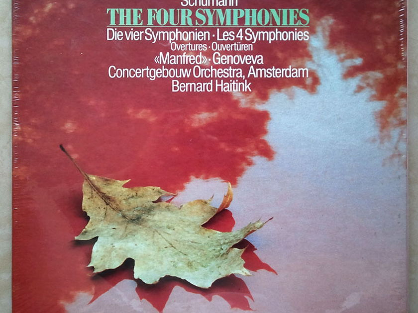 SEALED/Philips Digital Classics/Haitink/Schumann - The 4 Symphonies, Overtures, Manfred / 3-LP Box Set