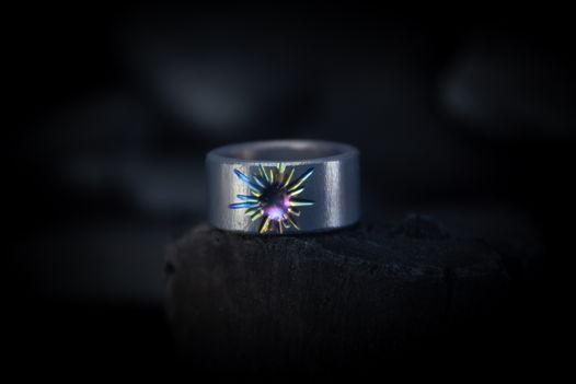 """Титановое кольцо """"Ореол"""""""