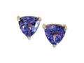 Effy 14K Yellow Gold Trillion Cut Tanzanite Stud Earrings