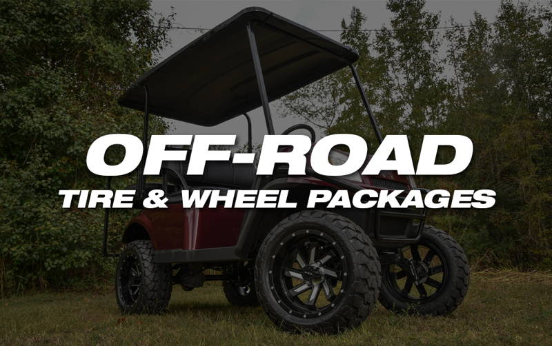 HD Golf Wheel & Tire Packages with All Season Tire Tread