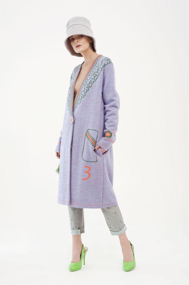 """Вязаное пальто """"С каракулем"""""""