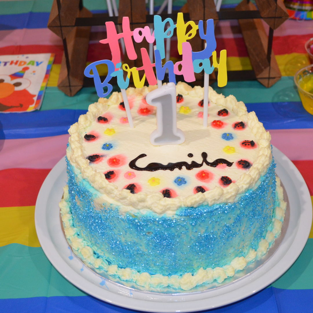 Date: 27 Feb 2020 (Wed) 21st Cake: 3-Colour Variation Checkerboard Blue Pearl Sugar Cake with Mini Lady Birds and Mini Flowers Toppings [245] [150.9%] [Score: 9.0] Cuisine: Western Dish Type: Cake For my granddaughter, Camila 1st Birthday :)