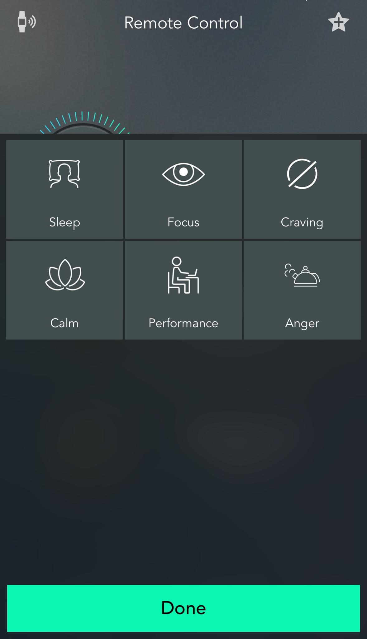 Presettings View on App