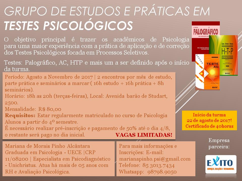 Grupo de Estudos e Prática em Testes Psicológicos