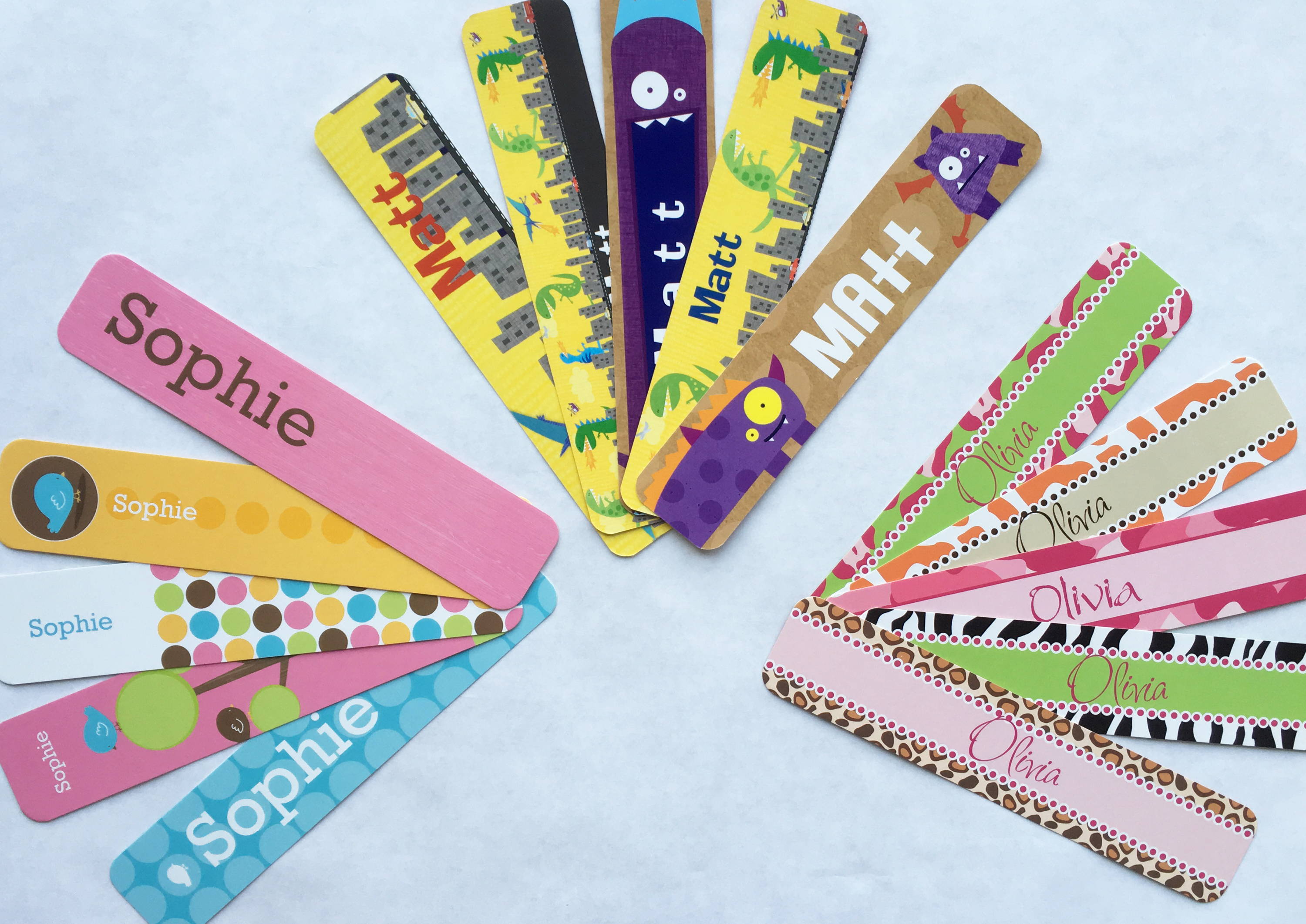 personalized bookmarks | party favors for kids