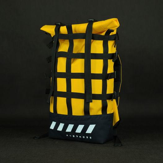 Желтый рюкзак / Светоотражающая Сумка / Yellow reflective backpack