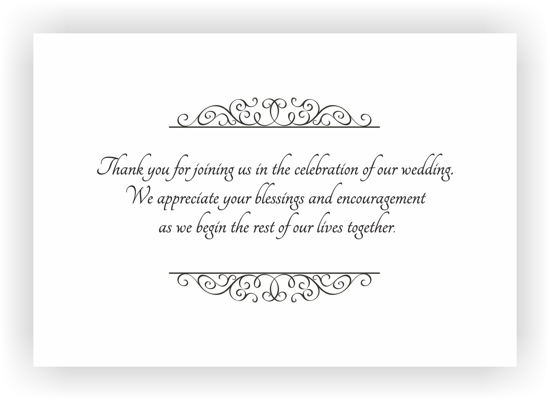 Thank You Message Wedding Gift