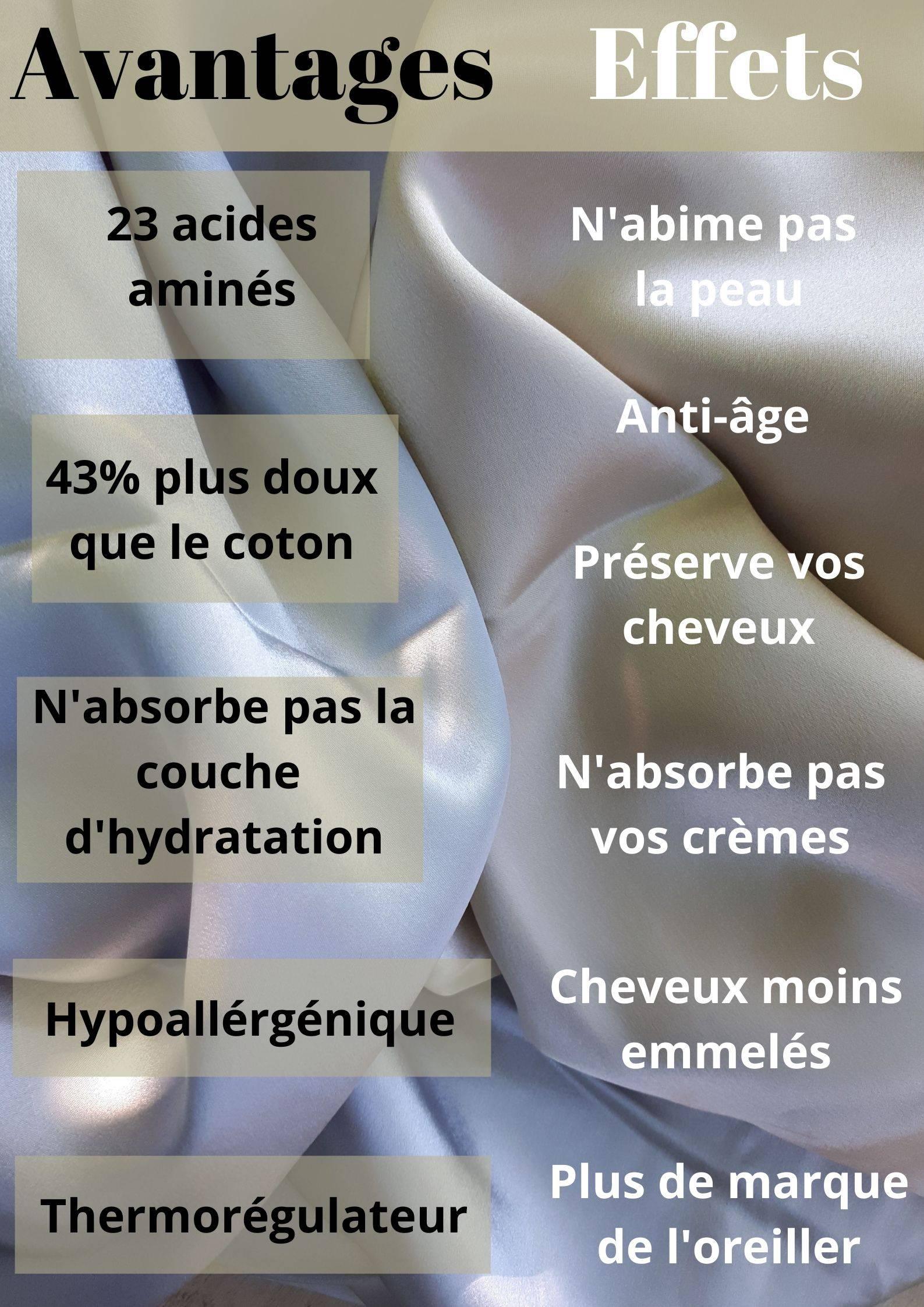 taie d'oreiller en soie avantages et effets