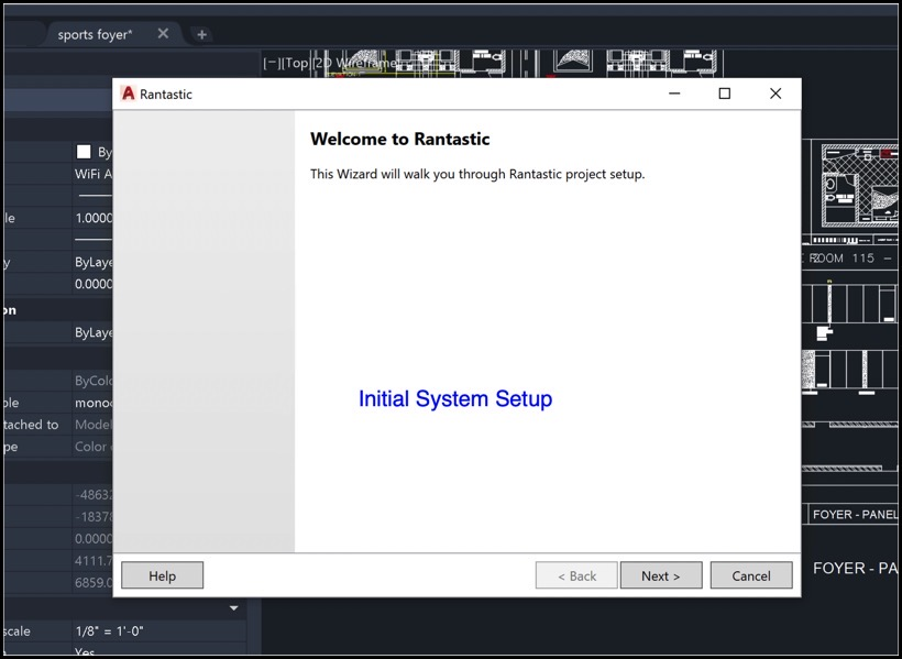 Initial system setup