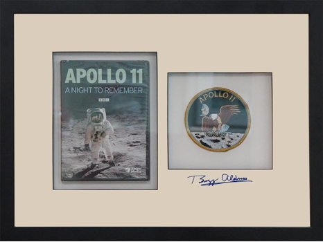 APOLLO 11 MISSION DVD AND PATCH SIGNED BY BUZZ ALDRIN