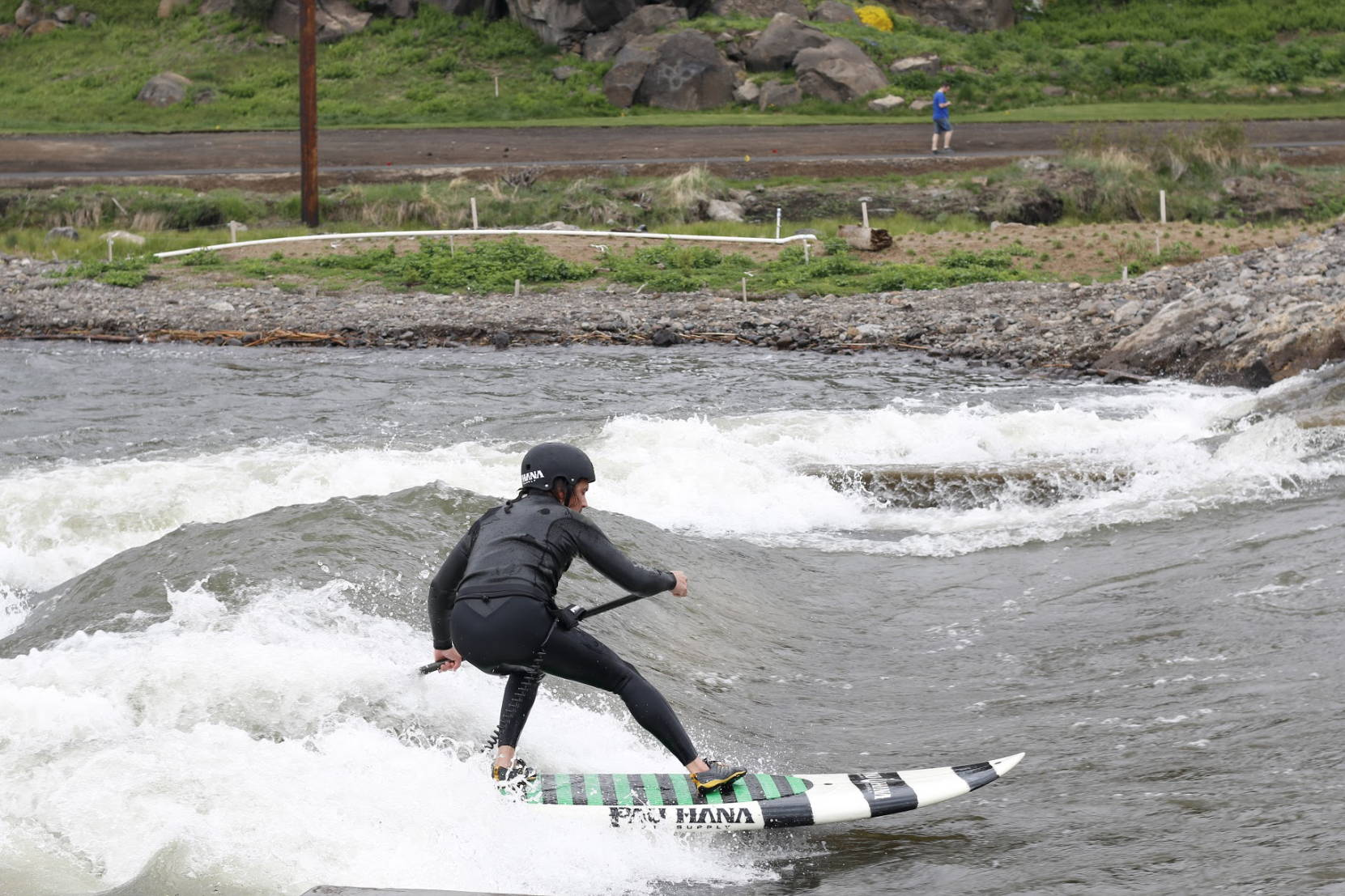 Todd surfing on the bend Oregon river wave