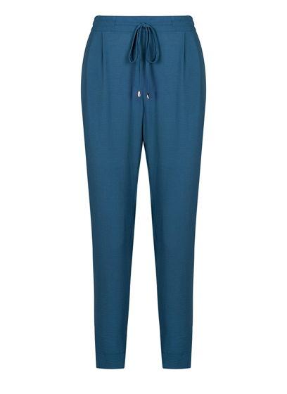 льняные брюки с завязками