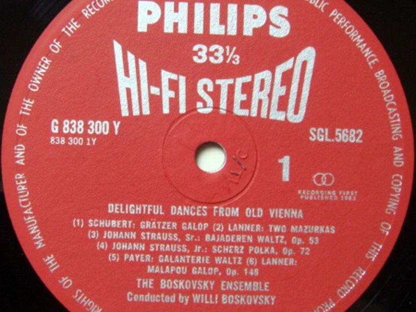 ★1st Press★ UK PHILIPS HI-FI STEREO / BOSKOVSKY, - Delightful Dances from Old Vienna, MINT!