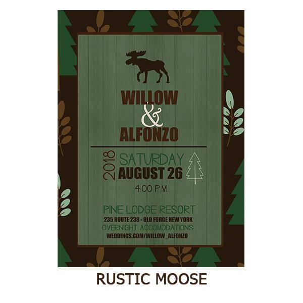 Rustic Moose Pine Tree Nature Wedding Suite