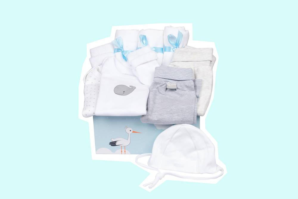 Babyerstausstattung neutral als Geburtsgeschenk von Taidasbox