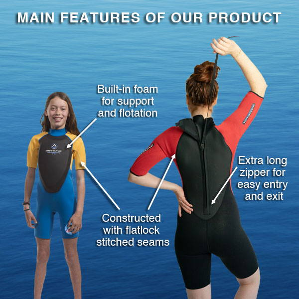 Main features of the Airtime Watertime Floater wetsuit