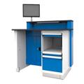 Rousseau Service Advisor Desks blue and grey