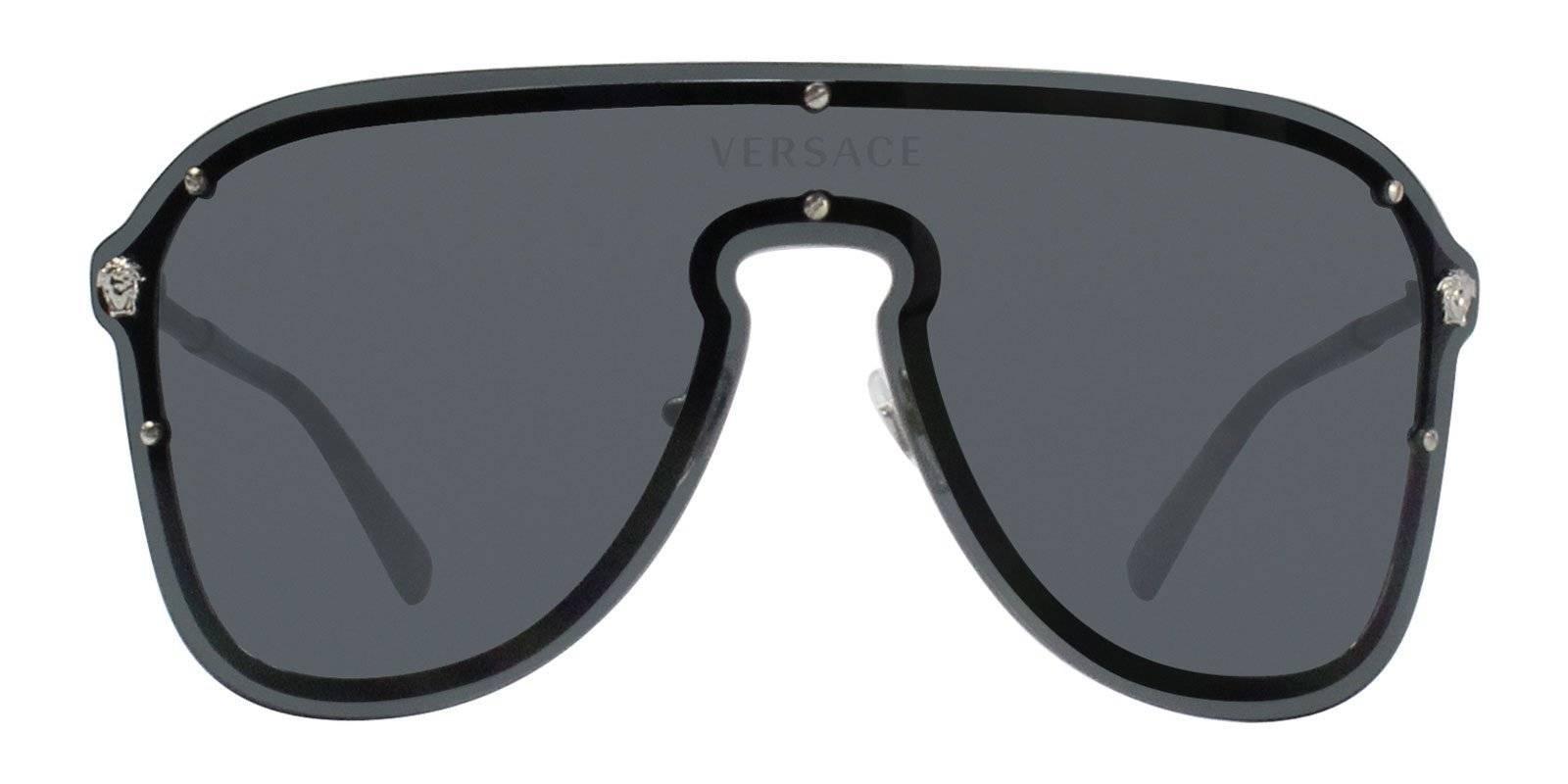 62e5b322af bella hadid versace VE2180 shield sunglasses– Designer Eyes