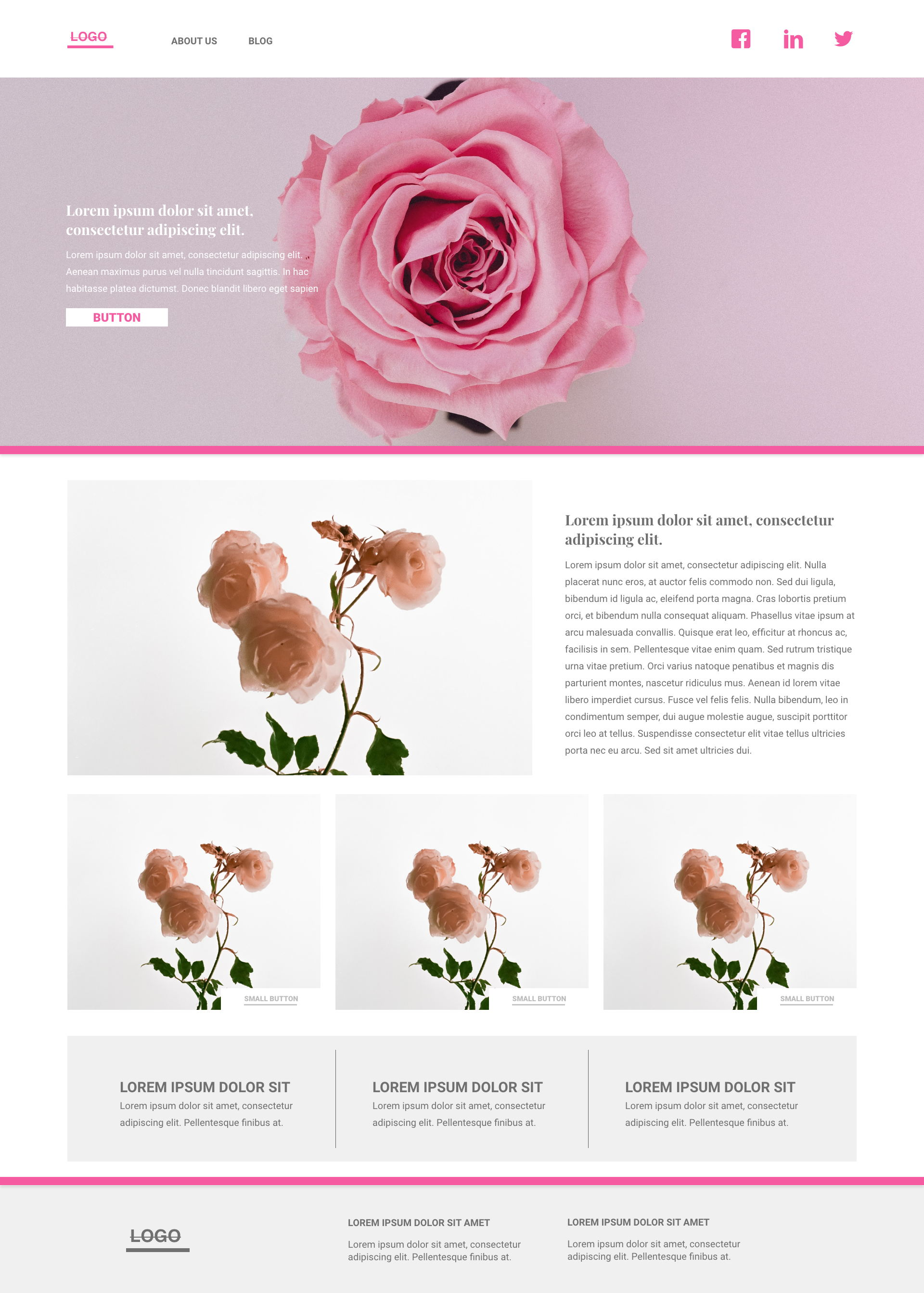 Rose template's gallery image