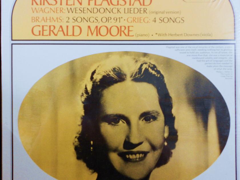 FACTORY SEALED ~ KIRSTEN FLAGSTAD ~  - WAGNER & BRAHMS~GERALD MOORE (PIANO)~HERBERT DOWNES VIOLA ~  SERAPHIM 60046 (1967)