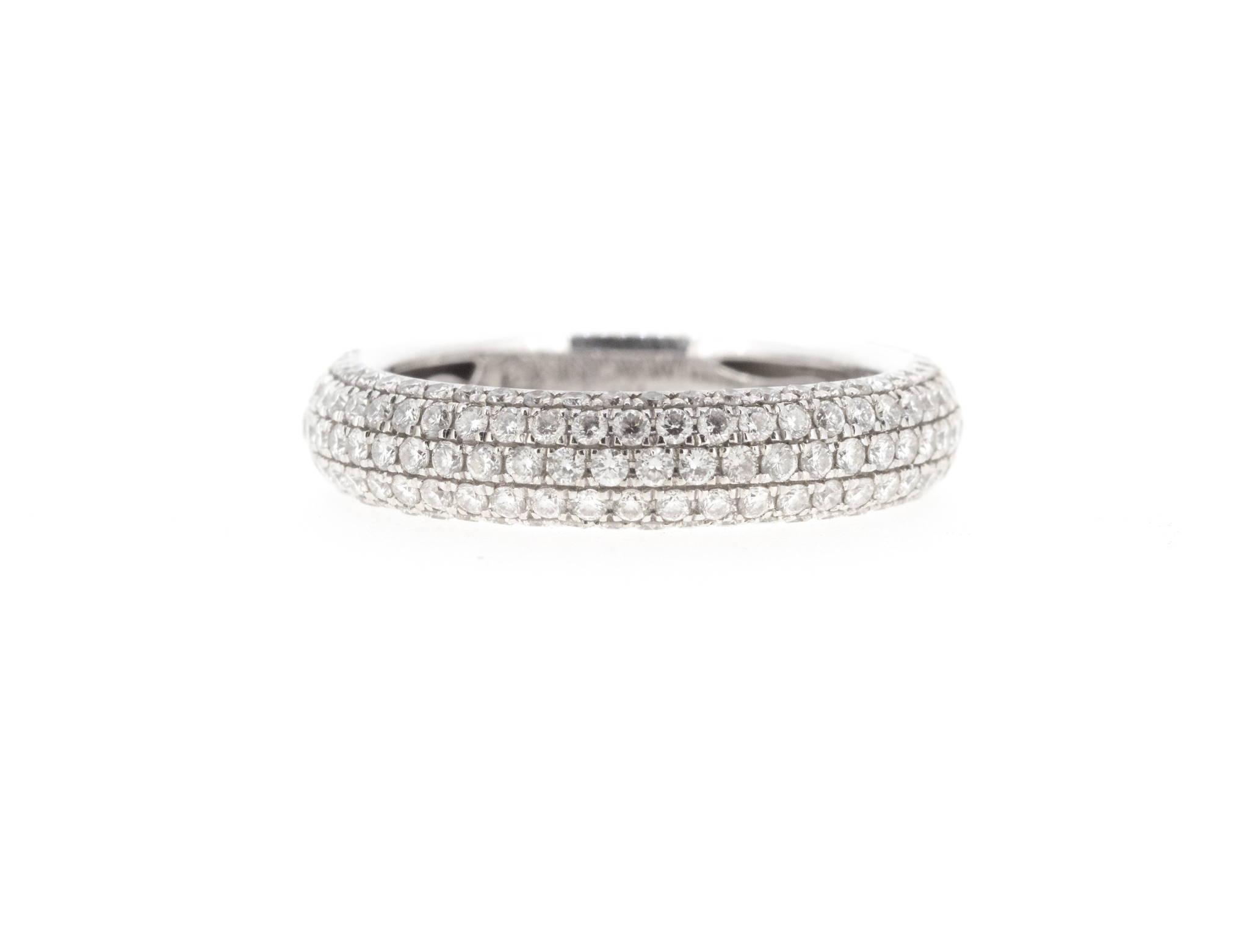 5 row diamond pave ring