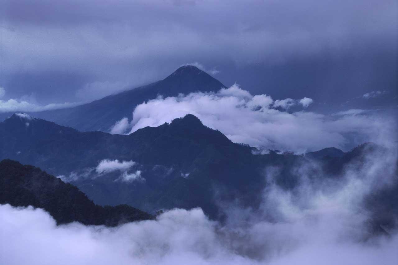 BeanBear Guatemala volcanic skyline