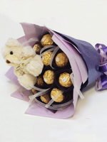 hf Teddy & Chocolate Bouquet